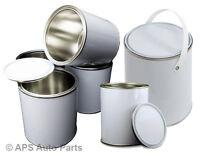 250ml 500ml 1L 2.5L 5L Empty Lever Paint Tin Metal Mixing Paints Varnish Lid Can