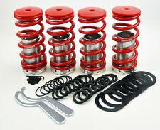 "Honda Adjustable 0-4"" Red Suspension Coilovers Lowering Springs Kit Megan Racing"