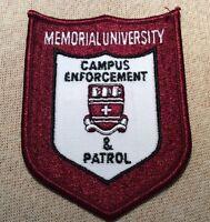 Ca Memorial University Canada Campus Enforcement & Patrol Patch