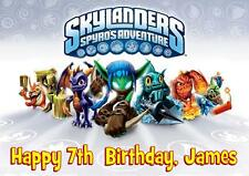 SKYLANDERS PERSONALISED A5 BIRTHDAY CARD with COLOURING PICTURE