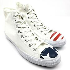 Converse Chuck Taylor All Star High Mens Size 10.5 USA Flag Toe 153911C Shoes