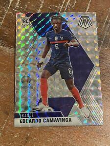 2020-21 Panini Mosaic UEFA Silver Mosaic Rookie #111 Eduardo Camavinga France