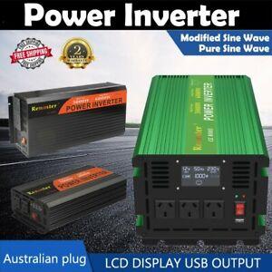 Renoster 12V 240V Pure Sine Wave/ Modified Sine Wave Power Inverter DC to AC USB