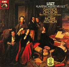 LISZT Piano Concertos 1 & 2 OHLSSON ATZMON EMI C037-2597 $4 Shipping Worldwide