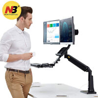 North Bayou Dual Monitors Sit Stand Mount Stand Desk Converter Height Adjustable