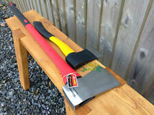 Axe & Hand Hatchet 4LB RED Fibreglass Axe & YELLOW Hatchet Axe Wood Chopper XX