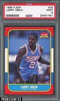 1986 Fleer Basketball #25 Larry Drew Sacramento Kings PSA 9 MINT