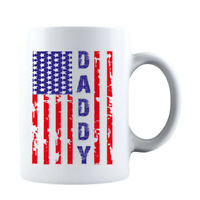 Vintage USA Flag Daddy Mug Christmas Birthday or Father's Day Idea for Papa