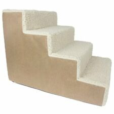 Foam Pet Stairs 4 Steps to get on High Bed Couch Easy Step Pet Steps Ramp Ladder