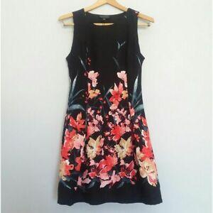 ROMEO+JULIET COUTURE Dress Women's Size Small Black Floral Sleeveless Dress