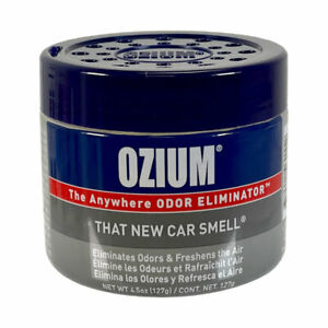Ozium Gel 4.5oz Eliminates Odors and Freshens the Air, That New Car Smell