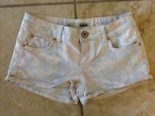 Floral Denim Shorts Size Petite for Women