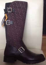 DKNY Naria Logo High Boots Brown UK Size 5 EU Size 38 Brand New & Boxed