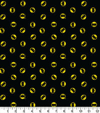 Batman Logo Fabric Black 100% Quality Cotton