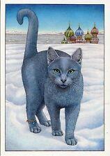POSTCARD / CARTE POSTALE ILLUSTRATEUR / FRANCINE VAN WESTERING // CAT CHAT