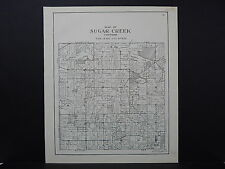 Wisconsin, Walworth County Plat Map 1936 Sugar Creek Township L20#99