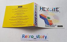 Nintendo Game Boy Color Hexcite Notice / Instruction Manual