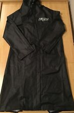 NEW! FOX RACING Mens SIZE SMALL Mud HOODED RAIN Coat Full Length TRENCH COAT BLK