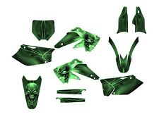 2004 2005 KX 250F GRAPHICS KIT KAWASAKI KXF250 DECALS #6666 GREEN