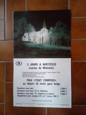 Ancienne affiche sncb 3 jours Wirtzfeld