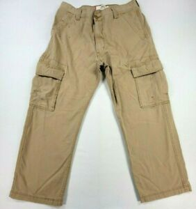 Mens Levis Beige Loose Straight Athletic Cargo Pants Size 34 X 30 Adult Casual