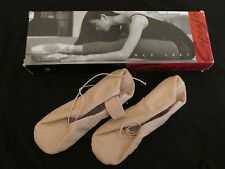 New Girl's Capezio Teknik Ballet Shoe Slippers Dance #200C NPK Pink Size 11.5