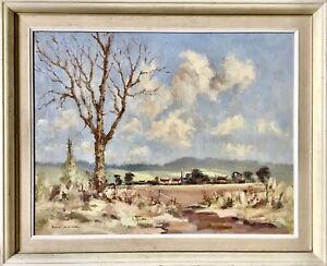 Bill Lowe 1922-2006 Scarborough Artist Framed Painting Nr Brompton Oil on Board