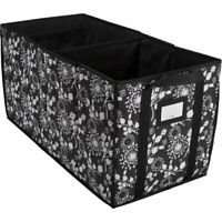 NEW Thirty-One Room to Grow Utility Bin in Black Floral Brushstrokes