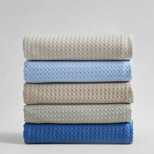Summer Thin Solid Color Honeycomb Towel Cotton Absorbent Air Condition Blanket
