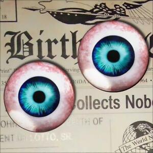 Human Glass Eyeballs Blue Taxidermy Realistic Doll Eyes 16mm