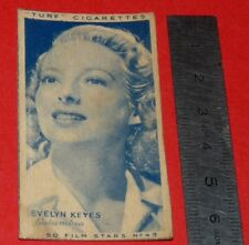 CINEMA 1947 TURF CIGARETTES CARD FILM STARS 42 EVELYN KEYES HOLLYWOOD ACTRICE