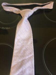 "Men's Neck Tie Next 4"" Wide 58"" Long Vintage Retro 100% Cotton Lilac Casual"