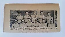 Columbus College Sioux Falls South Dakota 1927-28 Basketball Team Picture