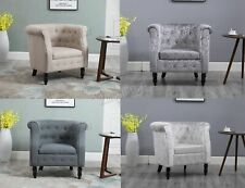 Spare Repair Linen Fabric Tub Chair Armchair Dining Living Room Lounge Tc07 Grey