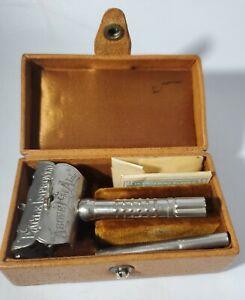 Antique Eagle Improved Razor Set with Original Case RARE