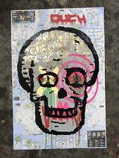 SKULL OUCH POSTER SPRAY PAINTS STREET ART INTERIOR ORIGINAL ARTWORK PAINTINGS