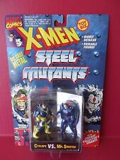 "X-MEN STEEL MUTANTS ""CYCLOPS VS MR. SINISTER"" 2.5""IN DIE CAST FIGURES 1994"