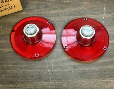 1962 FORD FAIRLANE 1963 FALCON TAIL LIGHT LAMP LENSES PAIR NEW NORS GLO BRITE
