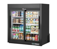 "True Countertop Refrigerator 36"" Black Sliding Doors"