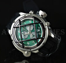 Invicta 52mm Russian Diver NAUTILUS Green Caged Dial Swiss Movt Chrono Watch NEW