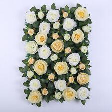 Upscale Silk Flower Wall Panels Wedding Venue Decor Champagne with Leaf