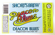 Short's Brew DEACON BLUES - BELGIAN EXTRA PALE ALE beer label MI 12oz STICKER