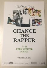 CHANCE THE RAPPER The Big Day Tour 2019 Pepsi Center - Denver 11x17 Promo Poster