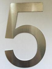 Hausnummer Postschild Nummernschild Türnummer Nummer 5 Größe XL Edelstahl V2A