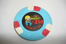 CARSON CITY NUGGET $ 2.50 BLUE CASINO CHIP