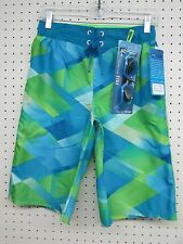 R-way Boy's Board Shorts Swim Trunks - Limeade Green Color - Size: LARGE 14-16