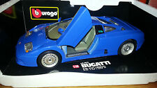 BURAGO 1:18 Bugatti EB 110 (1991)/vetrina modello/OVP