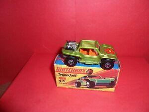 Matchbox Superfast #13-Baja Buggy,Nr Mint In Mint Original 'I' Type Box,1971/78.