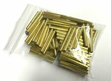 """100 Pcs Brass Tubing 1.25"""" Long, 5/32"""" OD, 1/8"""" ID, 1/64"""" Wall For Player Piano"""