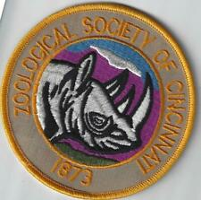 Zoological Society of Cincinnati Zoo Cincinnati Ohio Souvenir Patch